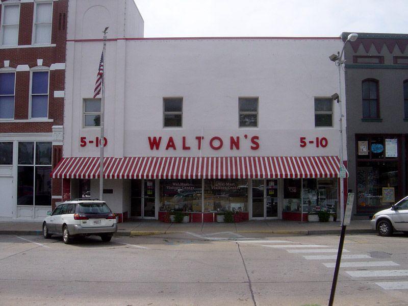 Photo de Walton's 5-10, ancêtre du Walmart Discount, premier magasin de la chaîne