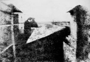 Première photographie connue au monde prise par l'inventeur reconnu de la photographie, Nicéphore Nièpce