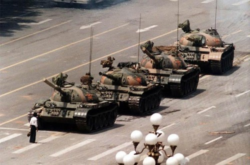 Photo de Tank Man par Jeff Widener