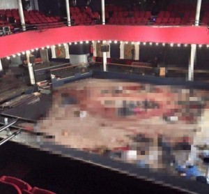 Photo intérieur du bataclan attentat de paris le 13 novembre 2015
