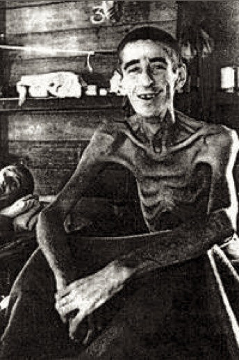 Photo de Jack Sharpe, soldat américain emprisonner par les japonais puis libéré par les américains en 1945