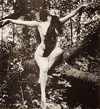 Photo histoire du cinéma : Annette Kellerman dans la première scène de nue