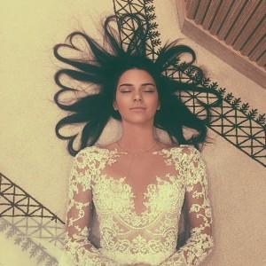 Selfie de Kendall Jenner qui a aujorud'hui le record du monde de la photo la plus likée du monde.