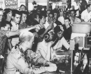 Image de la lutte contre la ségrégation aux Etats-Unis dans le Mississippi en 1963